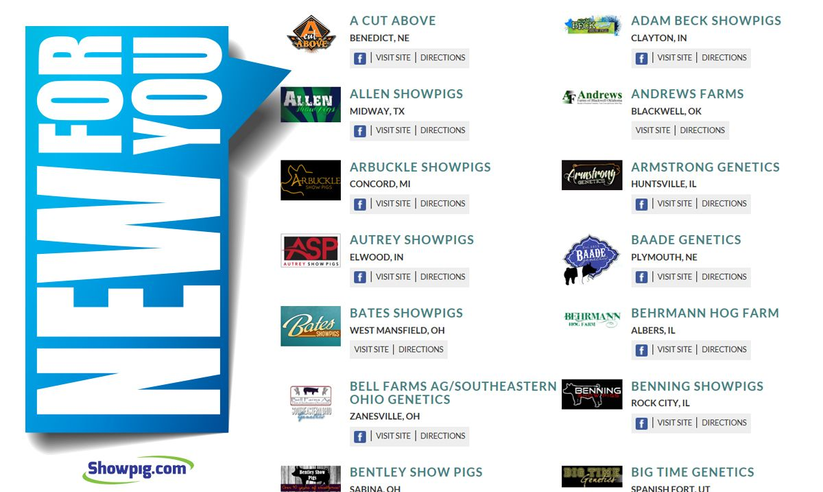 Featured image for the article titled NEW for you – Showpig.com Directory