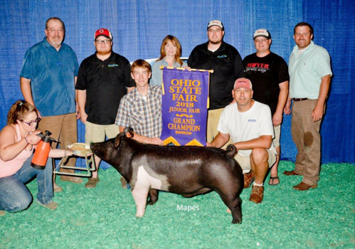Champion photo for exhibitor
