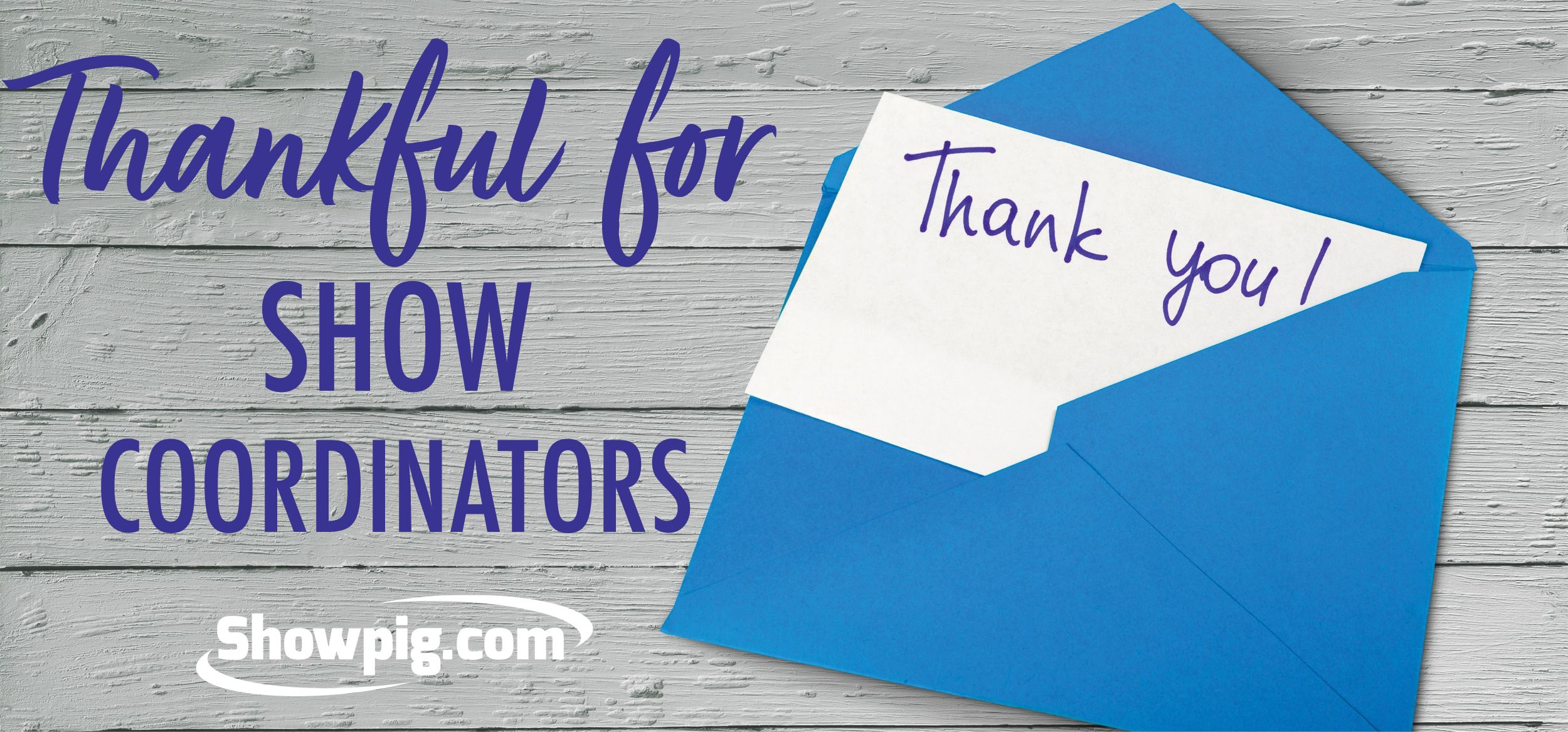 Featured image for the article titled A thank you note to show coordinators
